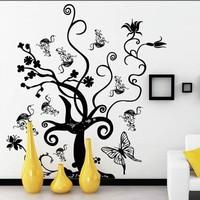 B Wisdom Wishing Black Tree Flower Wall Sticker Arty Decor Decal Removable NEW