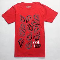 Free Shipping 2015 Red T Shirts Tee Shirt Men Fashion Short Sleeve Casual-shirt Fitness Man Tops 100% Cotton