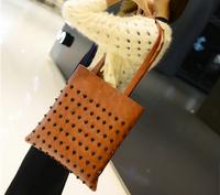2015 New Style Women Fashion Rivet PU Shoulder Bags women Handbags 1