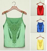 XXL Bright Sexy Comfort Raylon Summer Lace Crochet Top Camisole Women Clothing Strap Crop Top Blouse Shirt Roupas Femininas X5