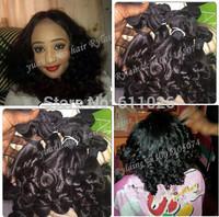 Best 7a quality 1b# 3pcs/lot brazilian virgin tip curls pure virgin aunty funmi hair for black women free shipping