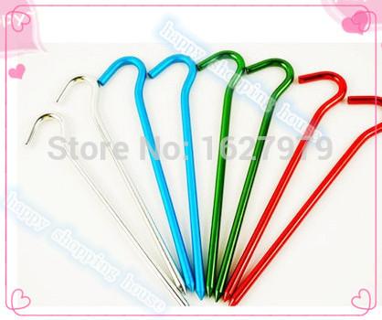 Travel necessary nail tent pegs hook to nail aluminium tent nail(China (Mainland))
