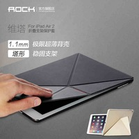 For Apple Ipad Air 2 Original Rock Brand Fold Business Cover Leather Case Smart Sleep Wake Up For ipad Air2 Free Screen Film