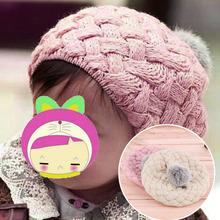 Crianças Baby Handmade Crochet Knitting boina Cap chapéu bonito quente Beanie em todo o mundo loja(China (Mainland))