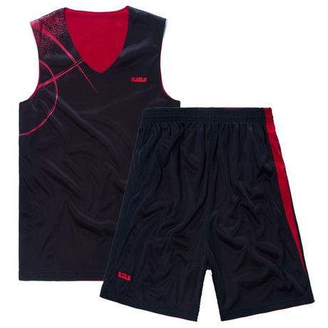 Basketball clothes basketball clothes set male reversible printed names blue uniforms basketball sportswear(China (Mainland))