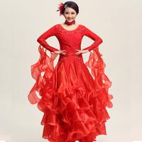 Red purple white Ballroom Dance Competition Dresses Ballroom Dance Dress Ballroom Dress waltz dress flamenco dress