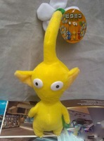 Free Shipping 10pcs/lot Yellow Pikmin Flower Plush Toy Lovely Gift For Kids