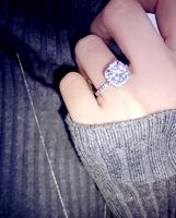 Korean wild exquisite CZ Micro Pave Ring