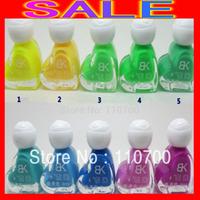 100pcs/lotFree Shipping Brand New BK Love-shaped Bottle Luminous Nail Polish Noctilucent Nail Oil / Nail Art Noctilucent Nail