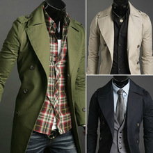 Spring & Autumn 2015 New Style Men's Casual Trench Coat