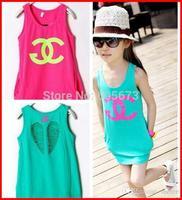 Girls Fashion Dresses Child Dress Kid Summer Dresses Children Clothing Dress Short Children Dresses Kids SummerDress Girl Double