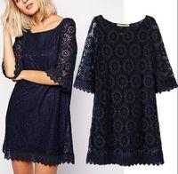 Brand New 2015 Fashion Ladies Elegant Sweet Lace Flower half Sleeve Dress  Dresses SML