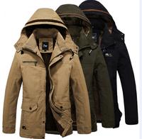 UDOD Brand Mens Winter Jacket Male slim casual hoody coat Cashmere Lining Cotton Fabric Outwear M L XL XXL XXXL EBJK308