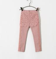 New Baby Girls Cotton Lace Floral Skirt Leggings , Princess Fashion Boutique Pencil Pants,  5 pieces/lot, Wholesale