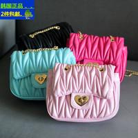 2015 Hot sale child bags fashion small plaid fashion chain bag female child handbag messenger bag