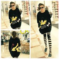 XXXXL Plus Size Women Velvet Sweater 3XL Large Big Size Warm Cartoon Printed Lady Clothing Tops 2XL Full Figure Female Pullover