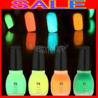 100PCS/LOT Free Shipping Laushine 12 Colors 15ML Glow in The Dark Fluoresce Nail Polish Luminous Nail Varnish Lacquer