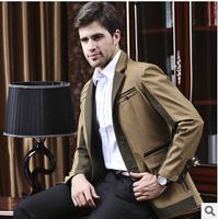 UDOD Brand Autumn Winter Mens Blazers Slim Fit Fashion Business Patchwork Men's Casual Suits Jacket CottonM L XL XXL XXXL BN1508
