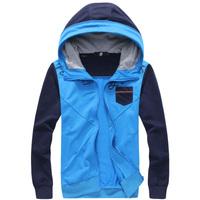 High quality! 2015 New Men hot sale Fashion Splicing Hoodies Men Jacket Coat Casual Slim With A Hood Sweatshirts Men