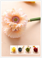 7pcs/lot,8 Colors,High Quality Bridal Bouquet,Wedding Party Table Centerpiece,Home Decoration Silk Gerbera Flower  Free Shipping