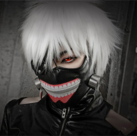 Free Shipping Tokyo Ghoul Cosplay Kaneki Ken Mask Adjustable Belt Halloween Party Prop Anime