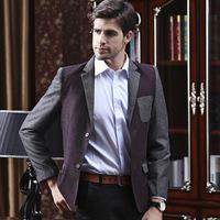UDOD Brand Autumn Winter Mens Blazers Slim Fit Business Stylish Patchwork Men's Casual Suits Jacket M L XL XXL XXXL BN1506