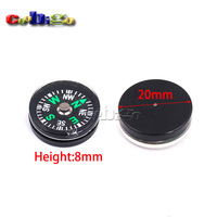 12pcs Pack 20mm Clear Liquid-filled Plastic Button Small Mini Compass for Survival Kit Hiking Camping Outdoor Sports #FLQ177