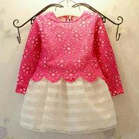 Kids Short Sleeves Crystal Bowknot Tutu Dress  Girls Ball Gown Bubble Dress