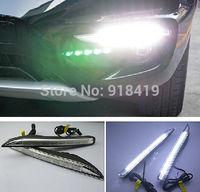 Free shipping,Excellent  For Renault Koleos 2012 LED DRL,LED Daytime Running Light, Ultra-bright LED illumination