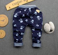 2015 Spring new children Skull  jeans trousers