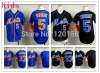Kids Youth New York Mets Baseball Jerseys #5 David Wright  Youth Mets #33 Matt Harvey Jersey  Size:S-XL