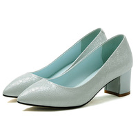 2015 spring and summer leather shoes, crystal wedding shoes thick with shoes