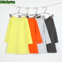 Children's dress! New  summer arrival! Girls clothing long sleeve cotton causual princess dress in stock
