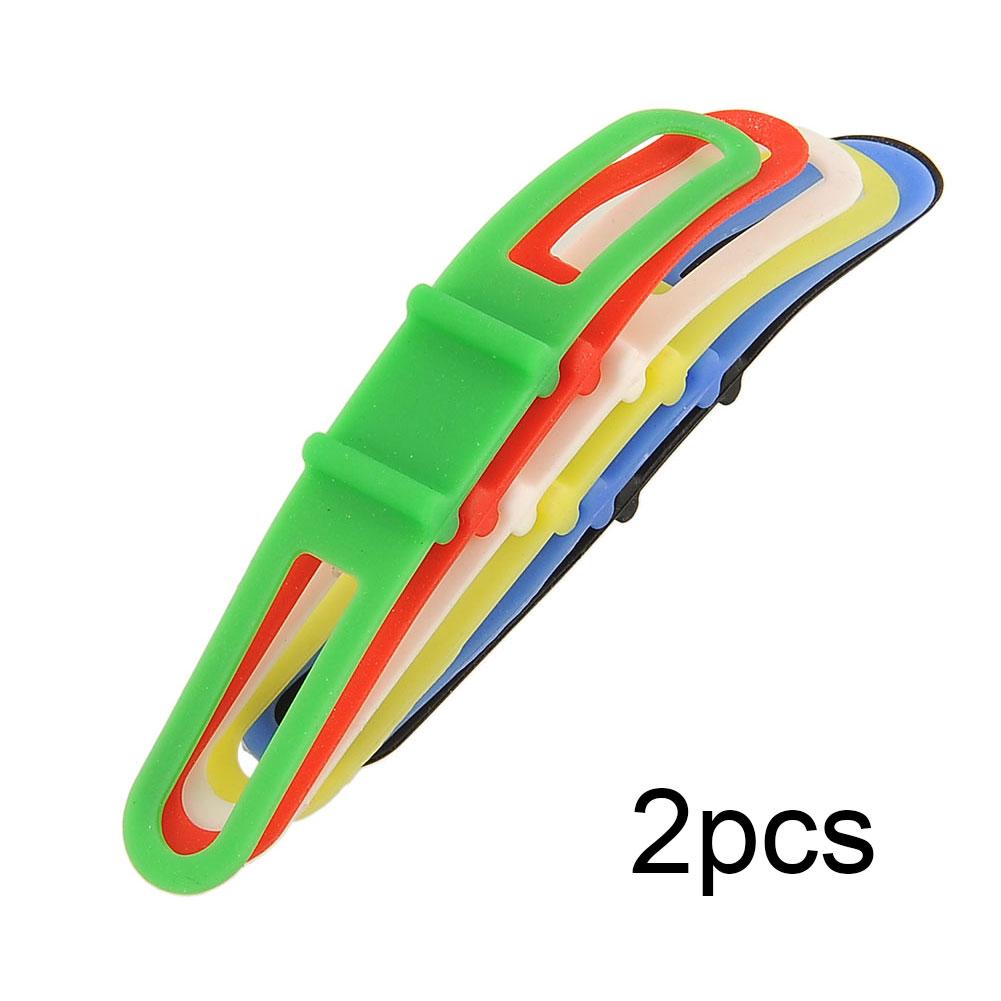 2Pcs Cycling Bike MTB Bicycle Silicone Elastic Strap Bandage Mount Holder For Head Light Flashlight Colorful Multicolor Useful(China (Mainland))