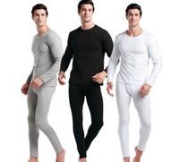 Hot sale  men's modal  men thermal underwear doublet + men's long johns men Autumn winter underwear low round collar