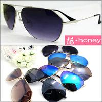 New mens polygon aviator metal Sunglasses flat top mirror blue gold Sun lenses eyewear UV400 brand P driving goggles black gold