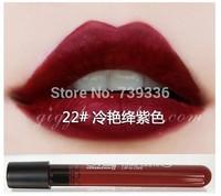 22 # glamorous purple lip gloss Matte velvet matte lip gloss glaze 1-36 purple color nude color lipstick stick Cup