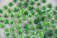 Free shipping Diy heart flatback gem resin 200 PCS scrapbooks mobile phone decoration wedding decoration accessories(12*12mm)