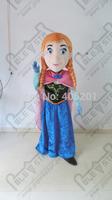 princess mascot costume with rosy cape anna mascot costumes