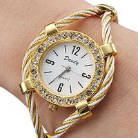 Rhinestone Whirlwind Design Metal Weave Clock female Dress Women Girls Bracelet Bangle Watch Wristwatch Siver Relogio feminino