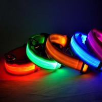 LED Pet cat Dog Led Collar safety harness Training light Glow necklace flashing lighting up S/M/L/XL
