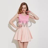 2015 New Fashion Sexy Sleeveless A-Line Dress Mini Summer Dress party dresses plus size women clothing Free Shipping