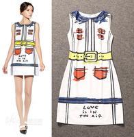 High Quality New Celebrity Inspired Dress 2015 Spring Women Print Casual Dress Ladies Novelty Design Dress Shopping Girls Sweet