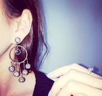 Korean temperament retro ring created diamond tassel earrings earrings