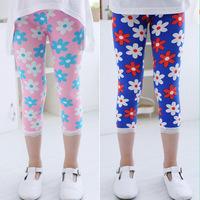 Pls buy any 2pcs in shop 2015  summer Size100~140 girls leggings children pants child trousers seventh sunflower legging