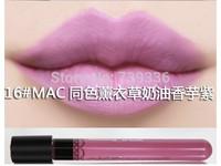16 # Lavender Matte Lip lip gloss Matte velvet matte lip gloss glaze 1-36 purple color nude color lipstick stick Cup