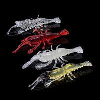 Trulinoya 4pcs 1.2g China Fishing Lures Iscas Artificiais Soft Lure Silicone Bait Shrimp Isca Artificial Para Pesca Protein