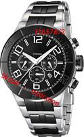 Fashion FE F16576/2 6576 Relogio Tour De France Black Dial Ceramic&Steel Band Sport Quartz Chronograph Men's Watch Original Box