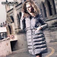 2014 Winter Thicken Warm Woman Down jackets Coat Parkas Outerweat Raccoon Fur collar Hooded Luxury Mid Long Plus Size 2XXL Black