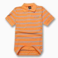 Free Shipping 2015 Brand Men T Shirt 100% Cotton Striped Turn-down Collar Short Sleeve Fitness Sports Tee Shorts Tops